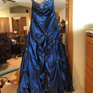 Floor length ball gown